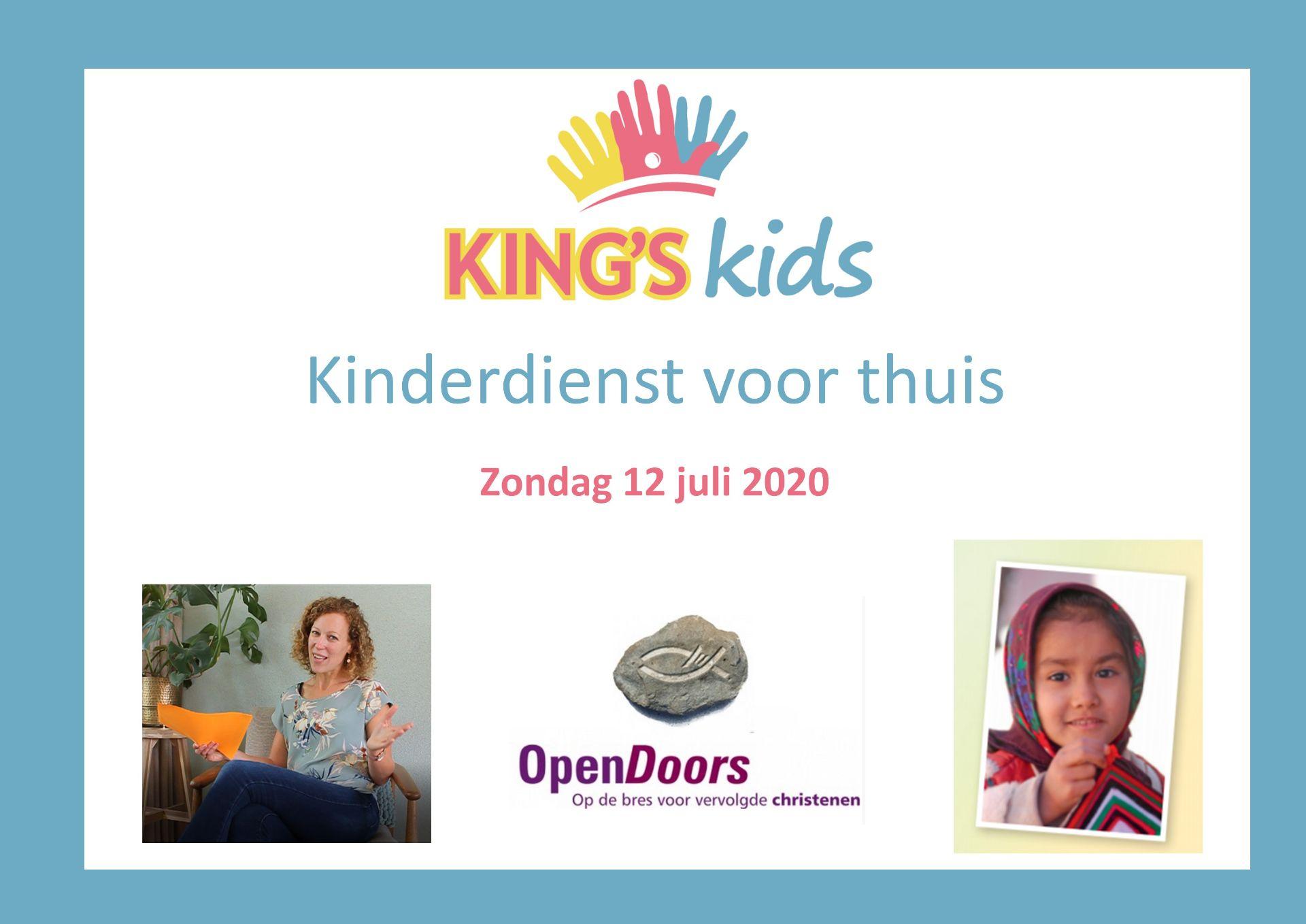 King's Kids Kinderdienst voor thuis 12 juli 2020