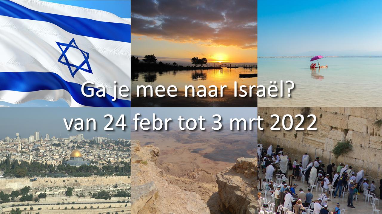 Ga je mee naar Israel?