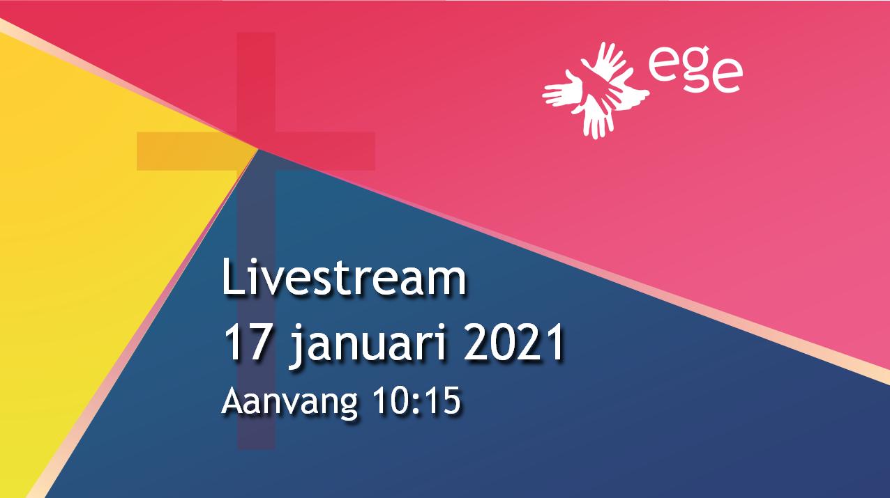 Livestream 17 januari 10.15 uur
