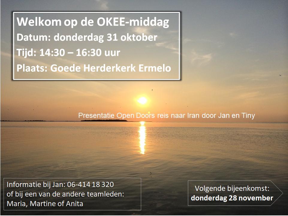 Bijeenkomst OKEE 31 oktober