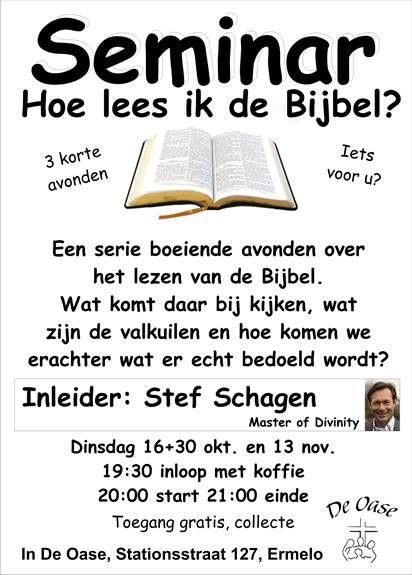Hoe lees je je bijbel? De Oase / Stef Schagen